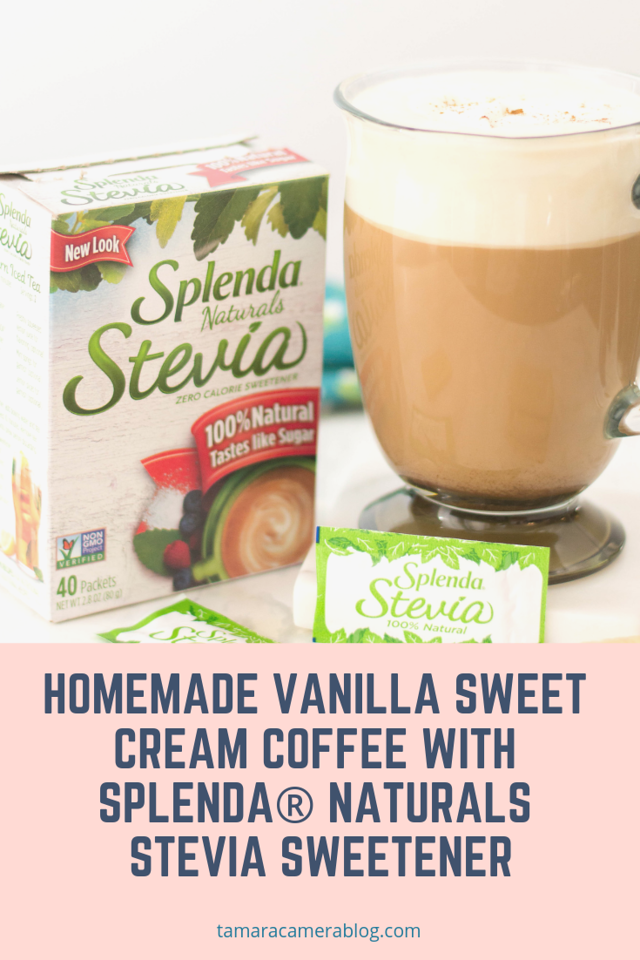 This Homemade Vanilla Sweet Cream Coffee recipe uses SPLENDA® Naturals Stevia Sweetener. It's a smart and healthy choice and perfect for a healthy lifestyle
