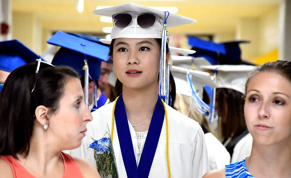 6/21/2018 Mike Orazzi | Staff Lydia Yu during Southington High School's graduation Thursday evening.