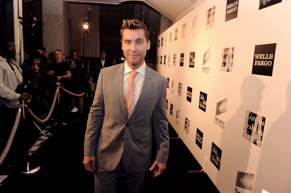 """. Singer Lance Bass arrives at \""""An Evening\"""" benifiting The L.A. Gay & Lesbian Center at the Beverly Wilshire Hotel on March 21, 2013 in Beverly Hills, California.  (Photo by Kevin Winter/Getty Images)"""