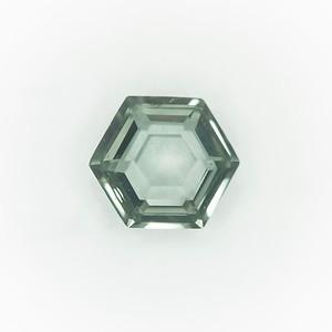 2.17 Montana Sapphire Step Hexa (double crown), unhetated
