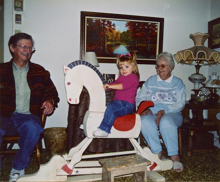 Cortnie on the rocking horse 11/2002