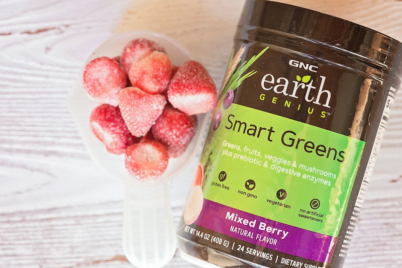 It's hard not to love these healthy, refreshing 3 ingredient smoothies made with mixed berries, almond milk, and Smart Greens Mixed Berry #MyEarthGenius #ad