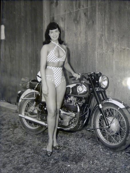 Betty Page & BSA Rocket Gold Star