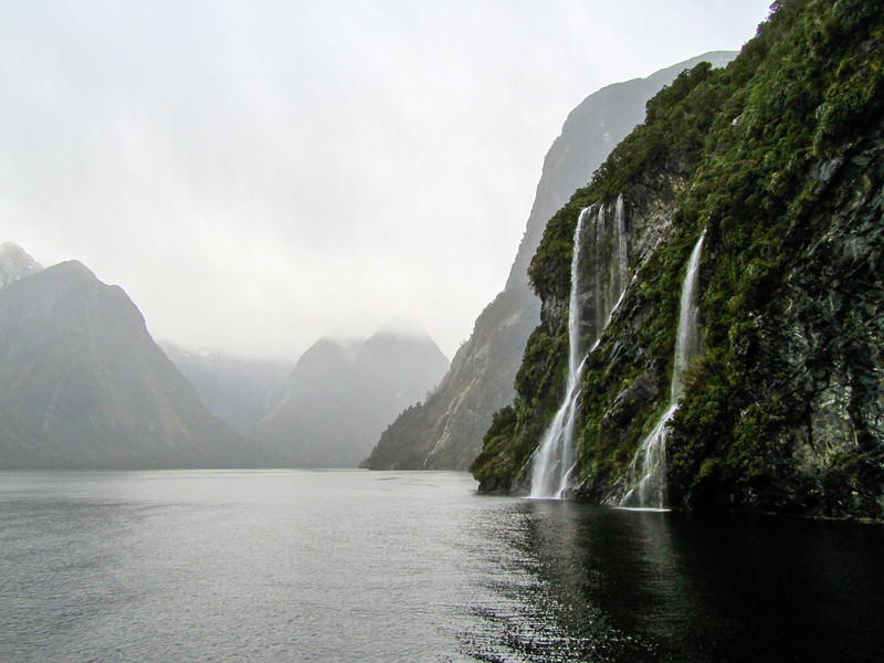 Waterfalls at Doubtful Sound