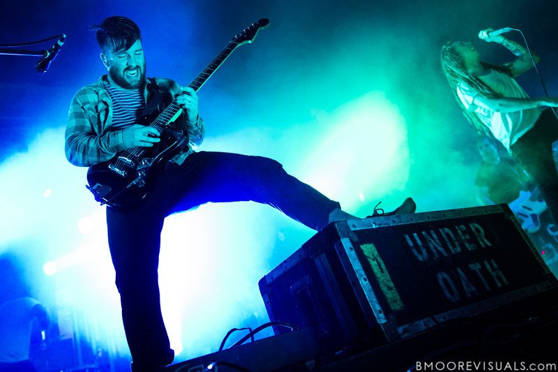 Timothy McTague of Underoath performs during their final show on January 26, 2013 at Jannus Live in St. Petersburg, Florida
