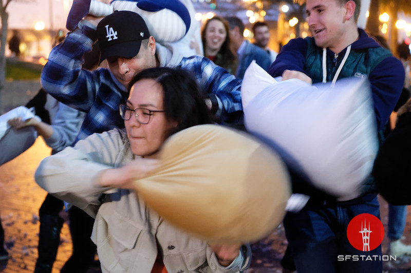 Epic Valentine's Day Pillow Fight