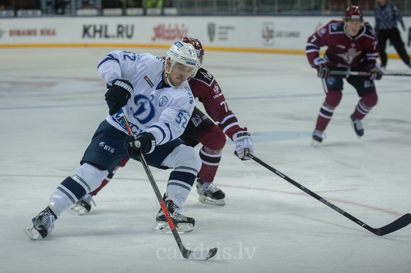 Alexei Sopin (52) in the KHL regular championship game between Dinamo Riga and Dynamo Moscow, played on October 3, 2016 in Arena Riga