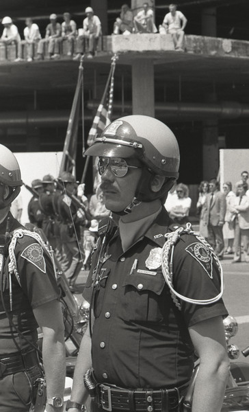 Police Officers on Monument Circle, May 1982