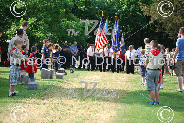 Sugar Grove, IL American Legion Post 1271 Memorial Day ceremony at Sugar Grove Cemetery 5-28-12