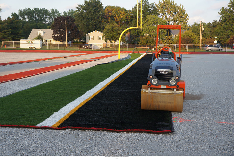 A lot of ground still to cover with the turf.