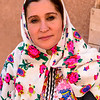 Iranian in traditional Abyaneh clothes