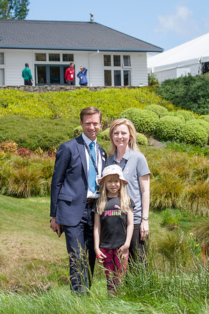 Royal Wellington Cheif Executive Officer Kurt Greive with his wife Rachel and daughter Keely on the 3rd day of competition  in the Asia-Pacific Amateur Championship tournament 2017 held at Royal Wellington Golf Club, in Heretaunga, Upper Hutt, New Zealand from 26 - 29 October 2017. Copyright John Mathews 2017.   www.megasportmedia.co.nz