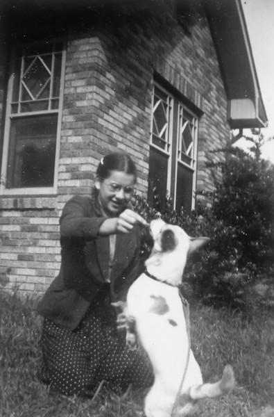 Maria Jacob and Trixie circa 1940