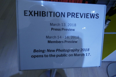 Mar 13 MOMA BEING NEW PHOTOGRAPHY 2018