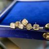 .78-.82ctw Asscher Stud Earrings, in Yellow Gold 11