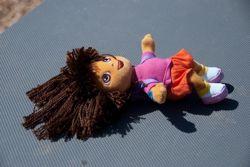 Dora gets some sun