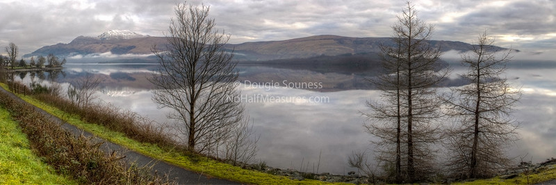 'Lomond in the Morning' - featuring a snow topped Ben Lomond. Near Luss, Loch Lomond, Scotland