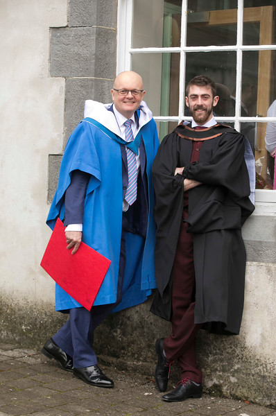 31/10/2018. Waterford Institute of Technology (WIT) Conferring Ceremonies 2018. Pictured are Shane Phillips Galway with Dr. Tom O'Toole. Picture: Patrick Browne