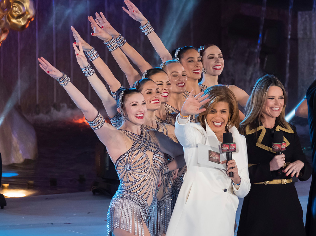 . Savannah Guthrie, right, and Hoda Kotb appear with the Rockettes during the 85th annual Rockefeller Center Christmas Tree lighting ceremony on Wednesday, Nov. 29, 2017, in New York. (Photo by Charles Sykes/Invision/AP)