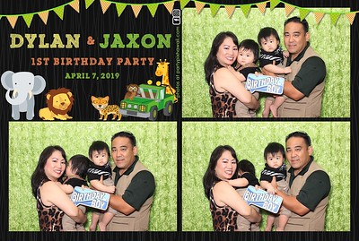 Dylan & Jaxon's 1st Birthday (LED Dazzle Photo Booth)