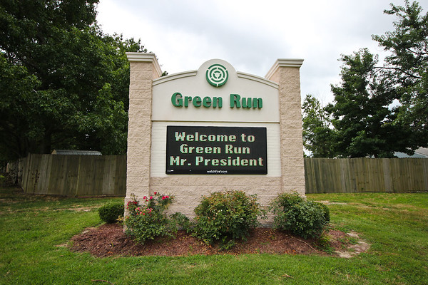 Welcome to Green Run Mr. President!