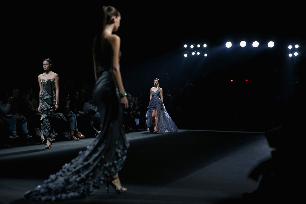 . Models showcase designs by Chinese designer Lin Ruoping on the runway at STELLA LAM Lin Ruoping Dress Collection show during Mercedes-Benz China Fashion Week Spring/Summer 2014 at 751 D-PARK Workshop on October 26, 2013 in Beijing, China.  (Photo by Feng Li/Getty Images)