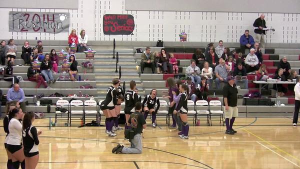 Senior Night of Volleyball - Jessica sings National Anthem 10-26-10