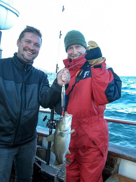 Steve hooked a cod!