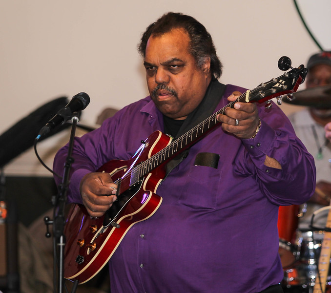 February 23, 2019: Pianist Daryl Davis plays the guitar with the Strangers band during the Winter Dinner/Dance Christmas in April event in Clinton. Photo by: Chris Thompkins/Prince George's Sentinel
