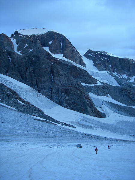 But, first - we need to go down to Dinwoody Glacier at about 11,580ft.