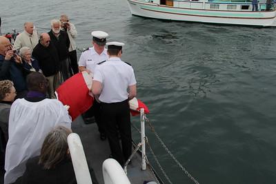 Gord Benjamin Committal of Ashes at Sea
