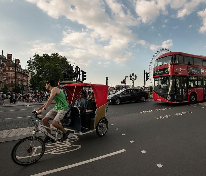Street scene in London City, England, 2018