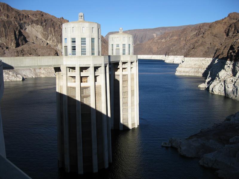 Water intake towers.