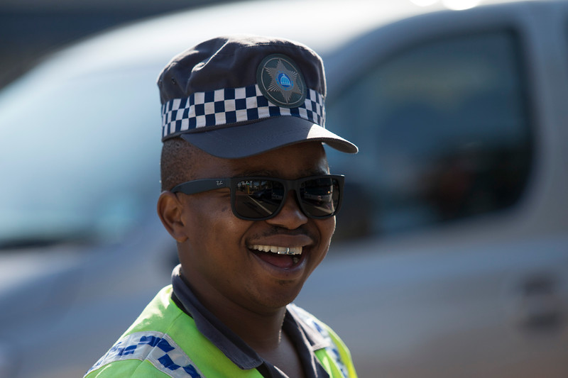 21st International AIDS Conference (AIDS 2016), Durban, South Africa. A friendly Durban Metro Policeman, 18 July, 2016. Photo©International AIDS Society/Rogan Ward)