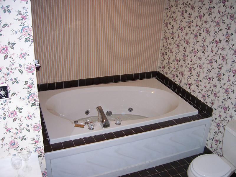 And a nice bathroom tub.