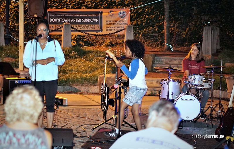 CC Minton of Stronger Tomorrow Wellness at DAS Downtown After Sundown Live Music Concerts in South Orange NJ