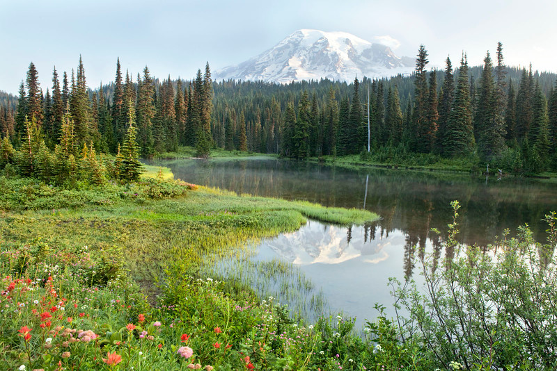 Reflection lake, Mt Rainier, Washington