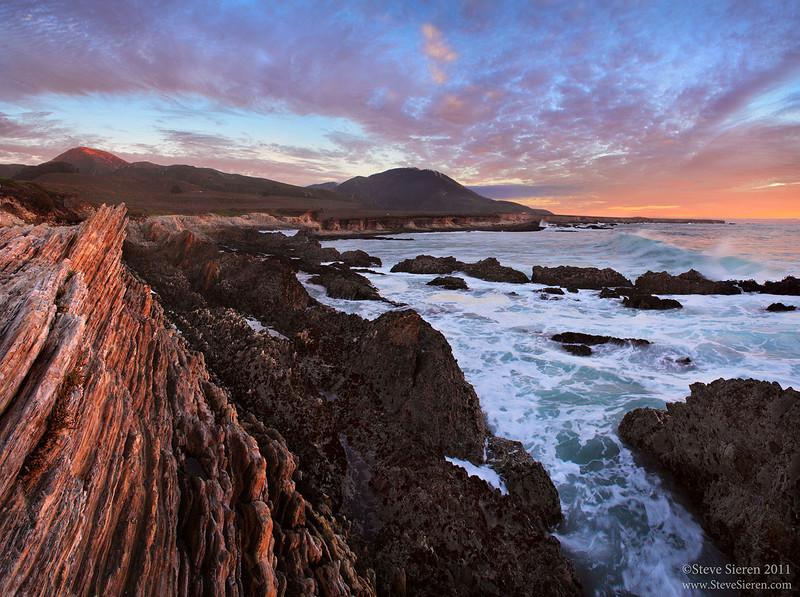 Last Light on Valencia Peak California Central Coast