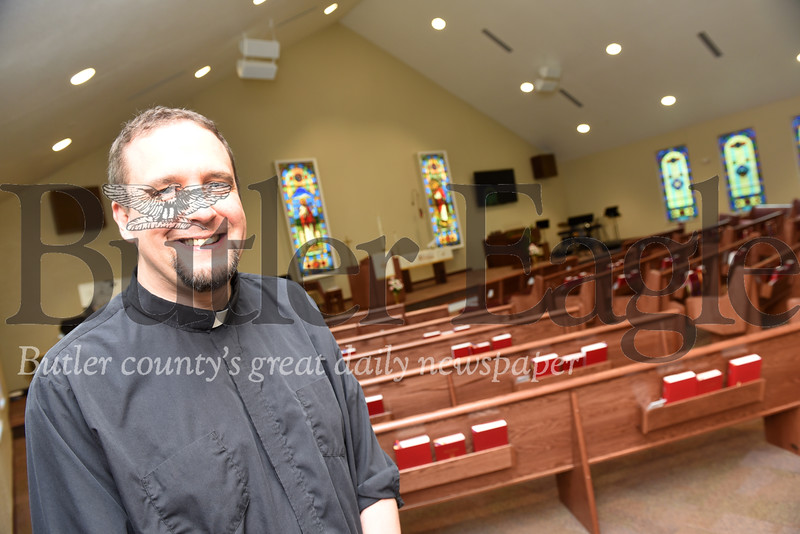 Harold Aughton/Butler Eagle: Pastor Shawn Smith, St. Paul Lutheran Church