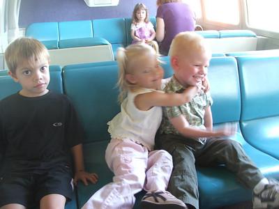 Disneyland-Sam, Nathan, Jared, and Lizzie 11-13-07