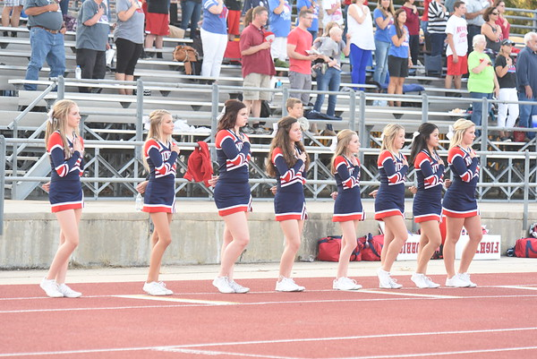 Cheerleaders - Seward Football game