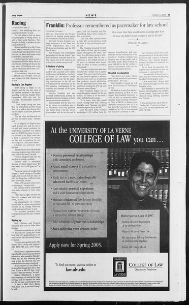 Daily Trojan, Vol. 153, No. 29, October 05, 2004