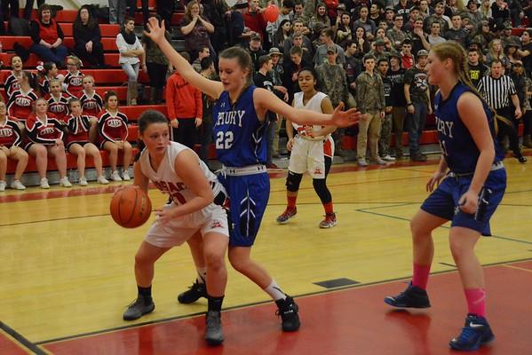 Drury-Hoosac Girls Basketball Game-022216