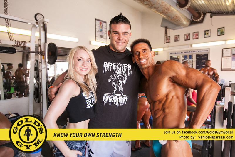 05.25.13 Muscle Beach Raw Bench Press. Share, download and/or tag the photos. All photos courtesy of Gold's Gym. Don't forget to like Gold's Gym SoCal on facebook.   Be part of the official Southern California Gold's Gym facebook page, and receive upcoming event info, special offers, promotions, fitness, nutrition, training tips & more. www.facebook.com/GoldsGymSoCal.   Know your own strength! Get your 7-Day FREE VIP Gold's Gym membership here! http://7dayvip.goldsgym.com/fl3/lp3/default.aspx  Event produced by Joe Wheatley Productions and presented by IVANKO.  Photo by Venice Paparazzi
