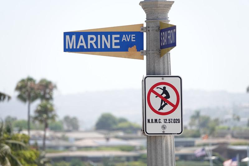 No skateboarding on Marine Avenue in Balboa Island.