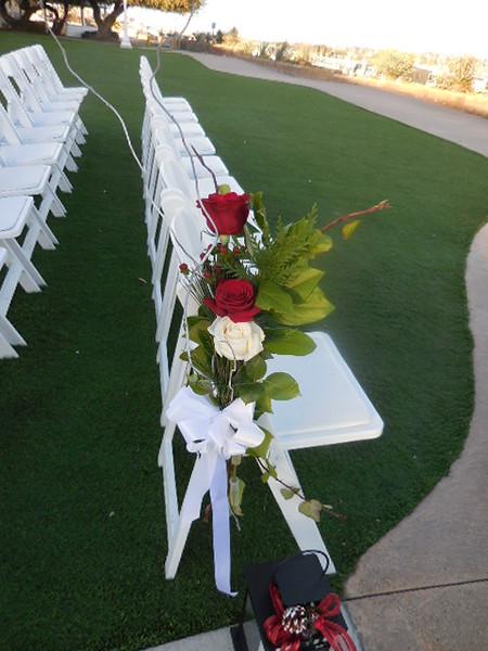 Admiral Kidd Aisle flowers - $30 ea
