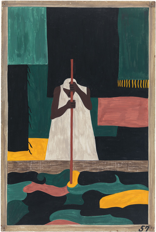"""Jacob Lawrence, """"The Migration of the Negro,"""" panel 57, 1940-41"""