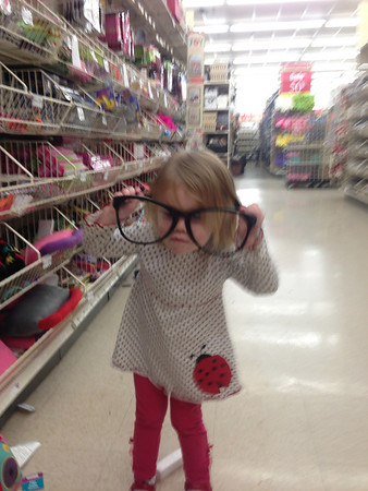 Goofing off in Craft Store