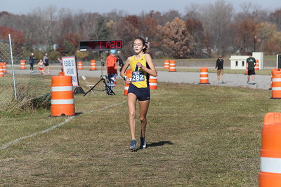 D3 Girls at 2 Miles Section 2 - 2020 MHSAA LP XC