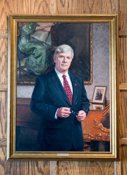 Lloyd W. Benjamin president portrait in Heritage Lounge